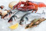 Fototapety Seafood on ice