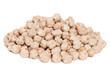 Pile Chickpea Bean isolated on white background.