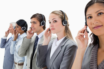 Professionals listening carefully