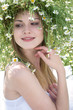 girl with daisy crown