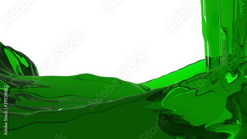 green water background with alpha channel