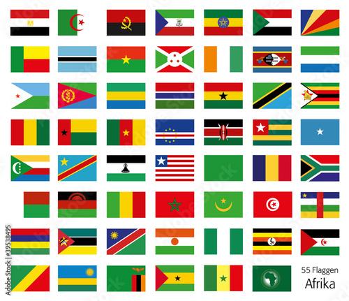 Afrika Flaggen Fahnen Set Buttons Icons Sprachen 3