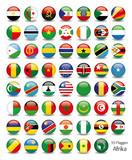 Afrika Flaggen Fahnen Set Buttons Icons Sprachen 1