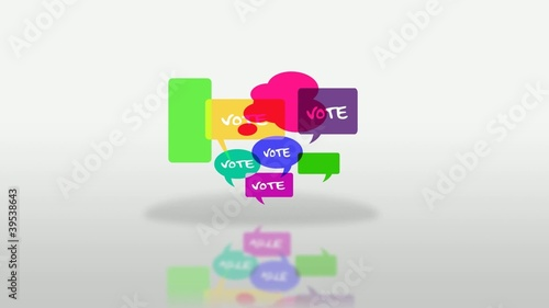 Vote elections bubbles cartoon animation