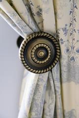 beautiful curtain on edge of a window