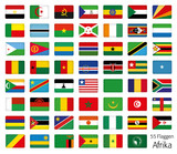 Afrika Flaggen Fahnen Set Buttons Icons Sprachen 2