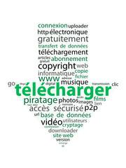 """Nuage de Tags """"TELECHARGER"""" (téléchargement internet mots-clés)"""