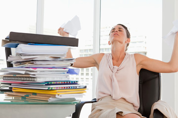 Female with too much work goes crazy