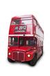 Bus rouge isolé fond blanc 2012 London