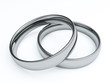 Wedding rings, 3D render