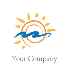 Logo design seaside holidays # Vector