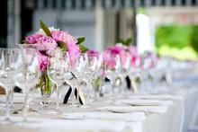 "Постер, картина, фотообои ""Wedding table decoration series"""