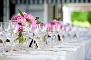 Wedding table decoration series