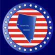 Nevada state map seal stamp usa