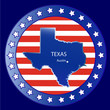 Texas state map seal stamp usa
