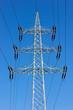 Hochspannungsmast. Elektrische Leitung