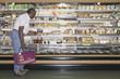 Man doing grocery shopping