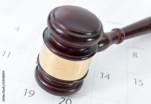 Gavel and calendar