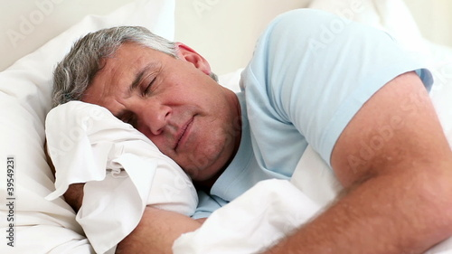 Mature man sleeping