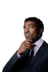 thoughtful african businessman