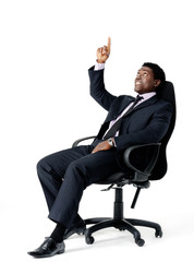 businessman in chair