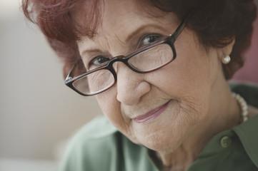 Close up of senior woman posing