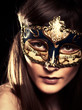 The Mask. Beauty female portrait
