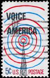 USA - CIRCA 1967 Voice of America poster