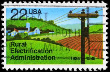 USA - CIRCA 1985 Rural Electrification