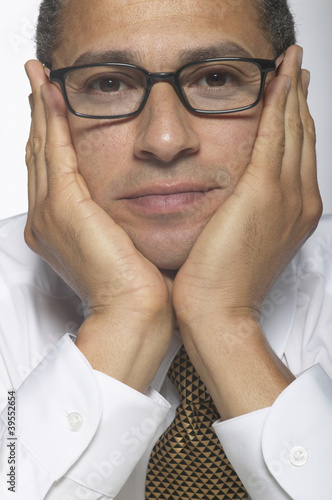 Portrait of businessman with glasses