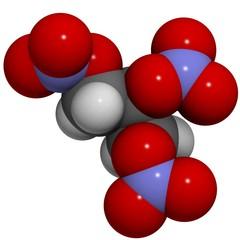 nitroglycerine: molecular structure (3D)