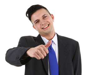 businessman with a thumbs up sign