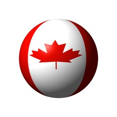 ball from canada flag