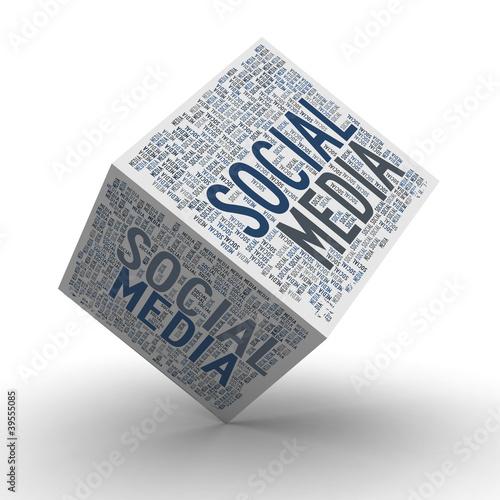 Social Media Cube / Soziale Medien Würfel