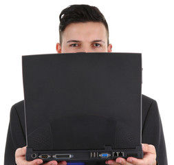 guy with a laptop