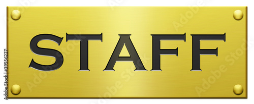 """Staff"" Engraved Plaque"