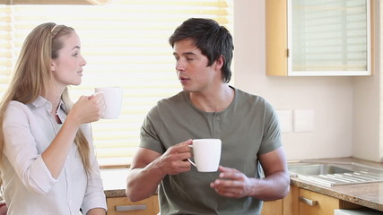 Couple drinking a coffee