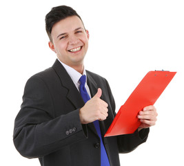 Guy with a clipboard