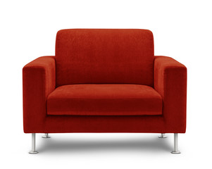 sofa seat isolated on white background