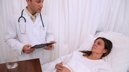 Patient talking with her doctor