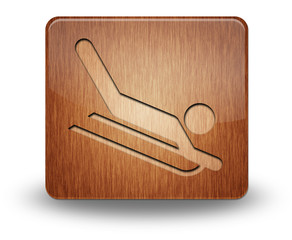 "Wooden Icon ""Sledding"""
