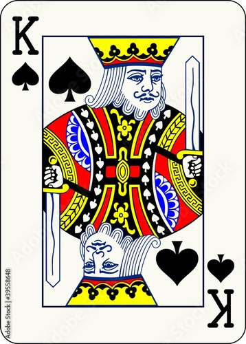 King of Spades - vector illustration of a poker playing card - 39558648