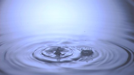 Drips falling in super slow motion
