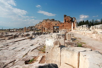 Ancient Hierapolis-Pamukkale. Turkey.
