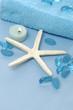 health spa on a blue background