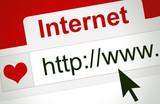 Fototapety Site de rencontre - amour sur internet