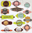 Premium Quality Labels - grunge set