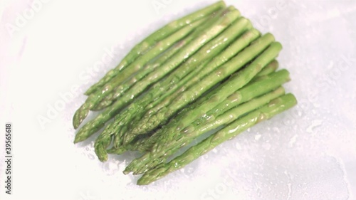 Hot asparagus in super slow motion