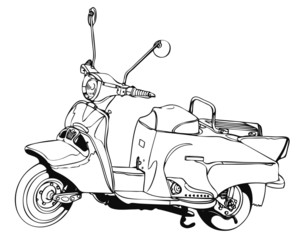 昔のスクーター