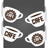 Left and right side signs - Cafe. Vector illustration.